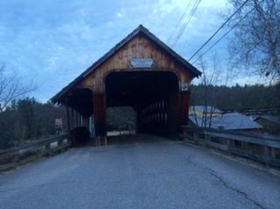 Church Landing at Mill Falls: Covered Bridge in Merideth, NH