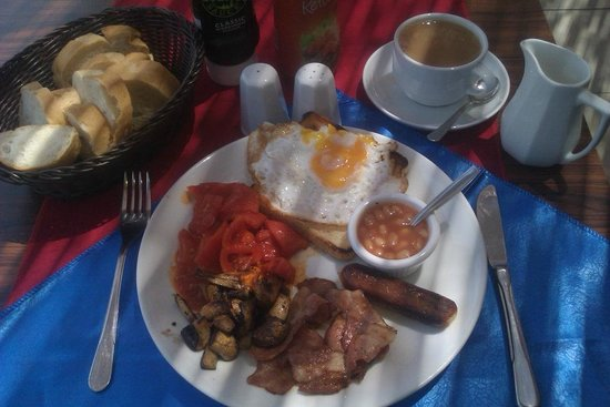 Full english breakfast with hp sauce picture of remember for Alanya turkish cuisine