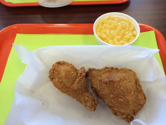 Tazza Fried Chicken & Grille : Fried Chicken with Mac & Cheese at Tazza's