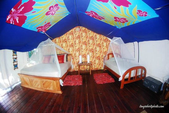Red Frog Bungalows: The Tentalow. spacious with private bathroom and hot water