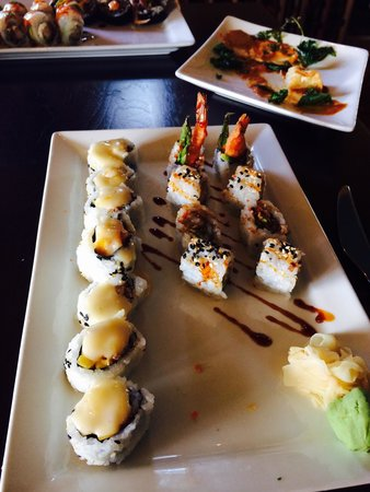 Kaiyo Grill & Sushi: You can't go wrong here! I allowed the waitress to pick my rolls and she was spot on!