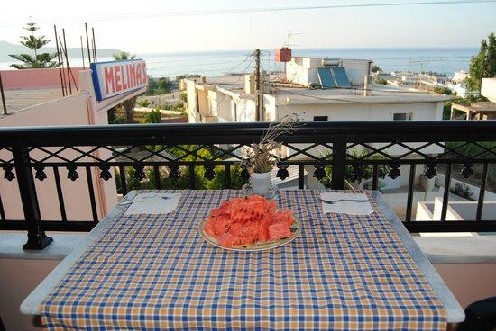 Melina's House : Θέα απο το μπαλκόνι