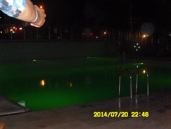 Sealife Family Resort: Swimming pool at night