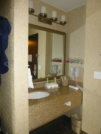 bathroom vanity - Picture of Holiday Inn Express Spokane ...