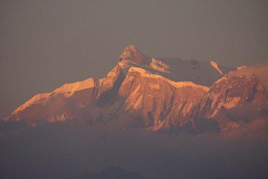 Sarangkot: サランコットの丘から観るヒマラヤ山脈の夕景