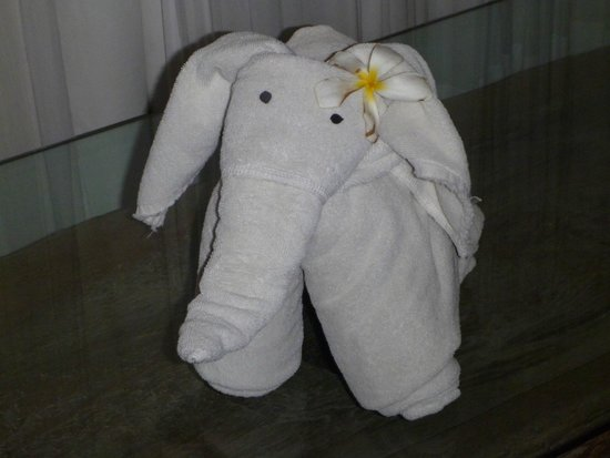 Chandra Luxury Villas Bali: Towel origami!