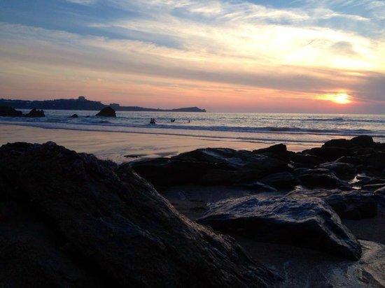 Lusty Glaze Beach Restaurant: Sunset
