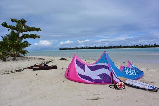 Pension Teheimana: plage d'a cote parfait pour le kite