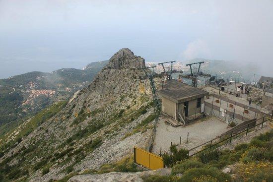 Monte Capanne: stazione di arrivo della cabinovia