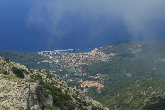 Monte Capanne: vista di Marciana Marina