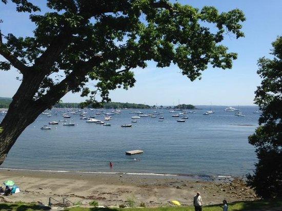 Relais & Chateaux Camden Harbour Inn : View from beach