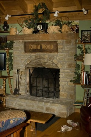Robinwood Inn: Fireplace in The Studio.