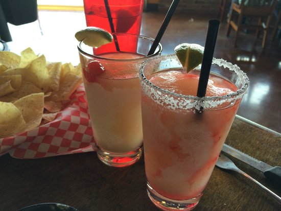 Fajita Jack's: Blackberry Moonshine Margarita and Strawberry Moonshine Margarita