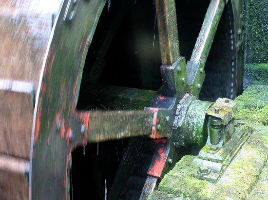 Stretton Watermill: Mill wheel.