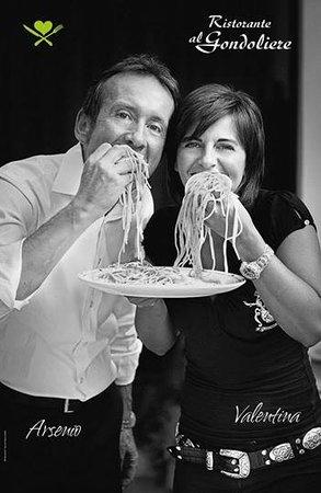 Ristorante al Gondoliere: Arsenio and Valentina