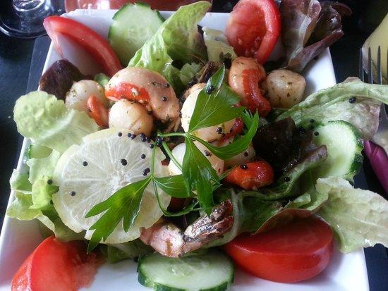 Le Globe Trotter : salade de saint jacques