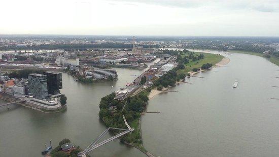 Rhine Tower (Rheinturm) : View from Top