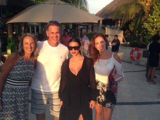 The St. Regis Punta Mita Resort: Kim Kardashian with Lynda, Pat and newlywed Caroline …why not ask?   It was my 60th!