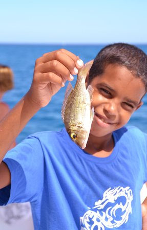 Jana Boat Fishing Safari : Our little helper!