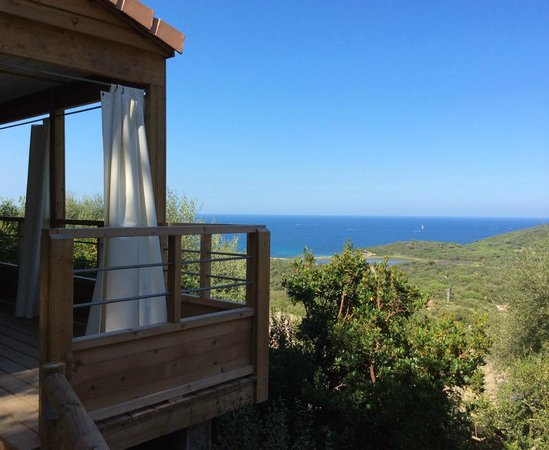 U Pirellu Camping: Lodge et sa vue