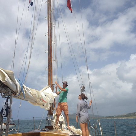 Vieques Classic Charter - Tours: Inigo and Soleil, the fabulous crew!