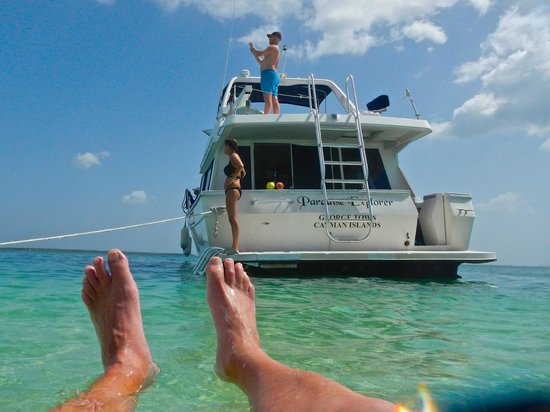 Cayman Private Charters: Supreme relaxing at Starfish Beach
