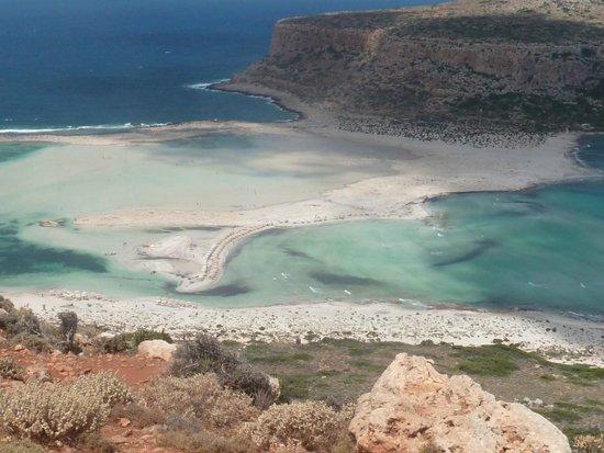 Balos Beach and Lagoon : vue du sentier