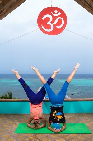 Tranquilseas Eco Lodge and Dive Center: happy handstands