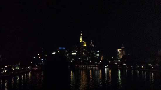 25hours Hotel The Goldman: Frankfurt at night over the Main river. This was near sachsenhausen