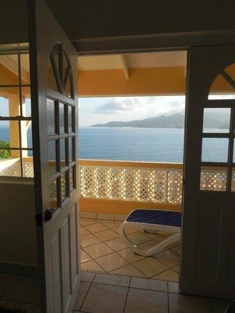 The Flamboyant Hotel & Villas: Aussicht vom Balkon