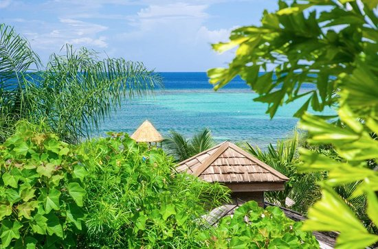 Tranquilseas Eco Lodge and Dive Center: relaxing Tranquilseas lagoon!