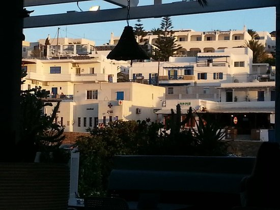 Ciao Bella: View of Chora from our table