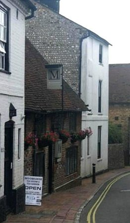Moonrakers: Moonraker in the narrow part (very narrow) of High Street  Alfriston, from the north