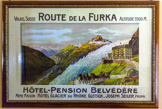 Hotel Belvedere: Nostalgy, this part of the glacier is gone now