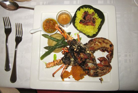 Restaurant Le Pitaya : Lobster with rice and vegetables