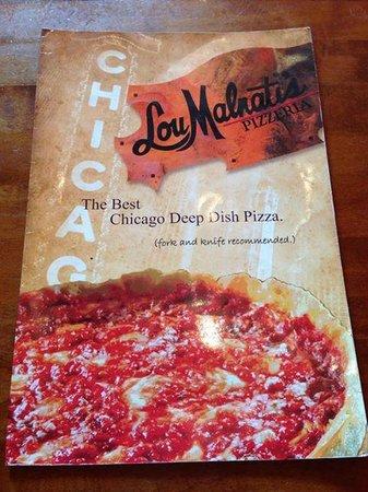 Lou Malnati's Pizzeria: menu cover
