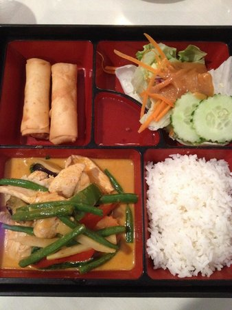 Thai Blue Ginger: Red Curry Chicken Lunch Box.