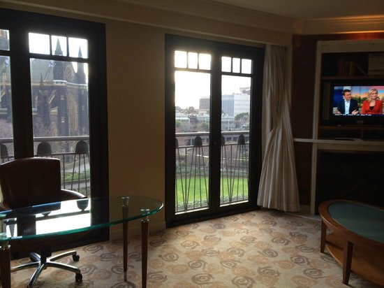 Park Hyatt Melbourne: View from the living room of the suite