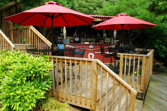Blue Waters Mountain Lodge : Tiki Bar