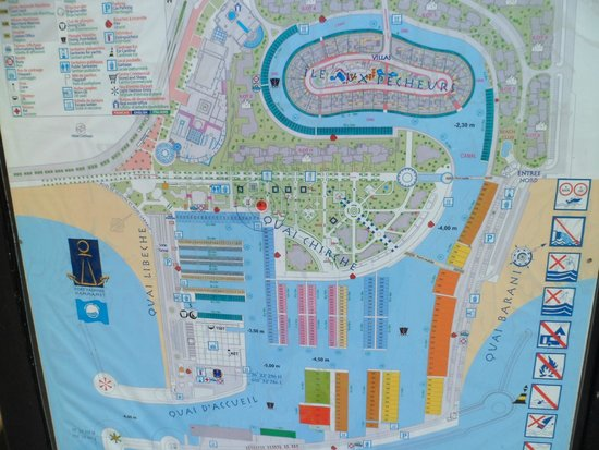 Yasmin Hammamet: map of harbor