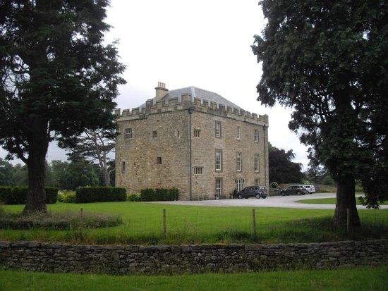 Hellifield Peel Castle: From the adjacent field, looking toward the castle