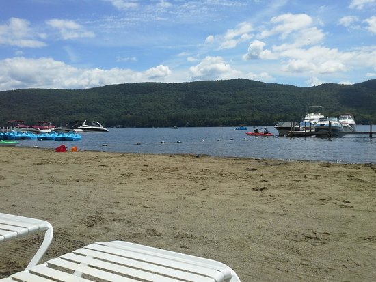 Scotty's Lakeside Resort: View from the beach