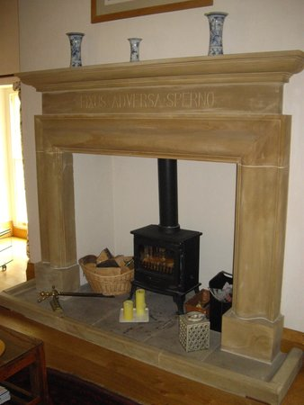 Hellifield Peel Castle: Fire surround in the Square Room