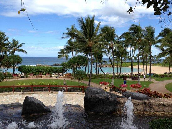 Marriott Ko Olina Beach Club: View from car drop off area