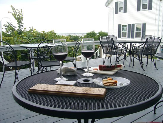 The Barrington Inn: a rainy deck on Block is better than a sunny day at work