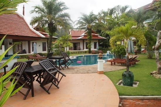 The Pe La Resort: pool and garden