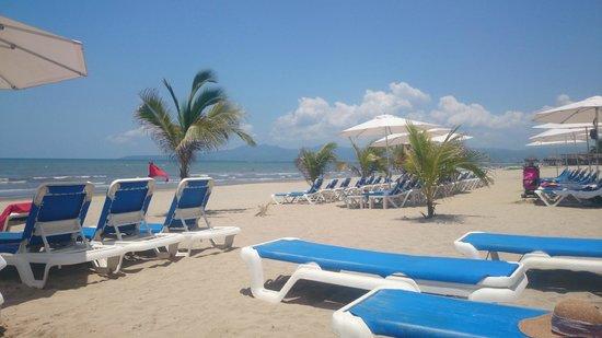 Hard Rock Hotel Vallarta: En la playa zona de camastros