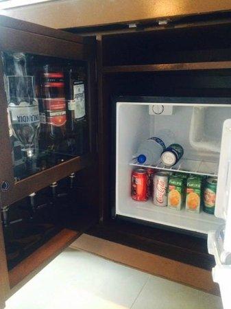 Hard Rock Hotel Cancun: Mini-fridge Stocked everyday!