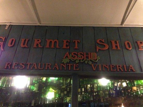Gourmet Shop Assho: entrada