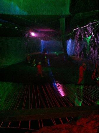 Zip World Slate Caverns: Bounce below